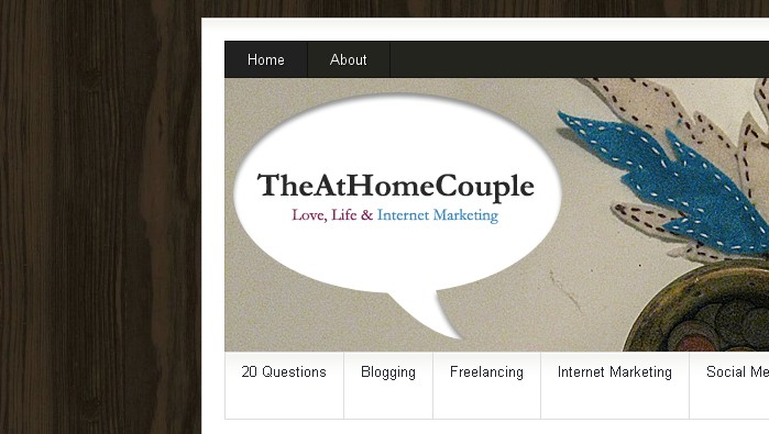 TheAtHomeCouple.com New Design - SNEAK PEAK!